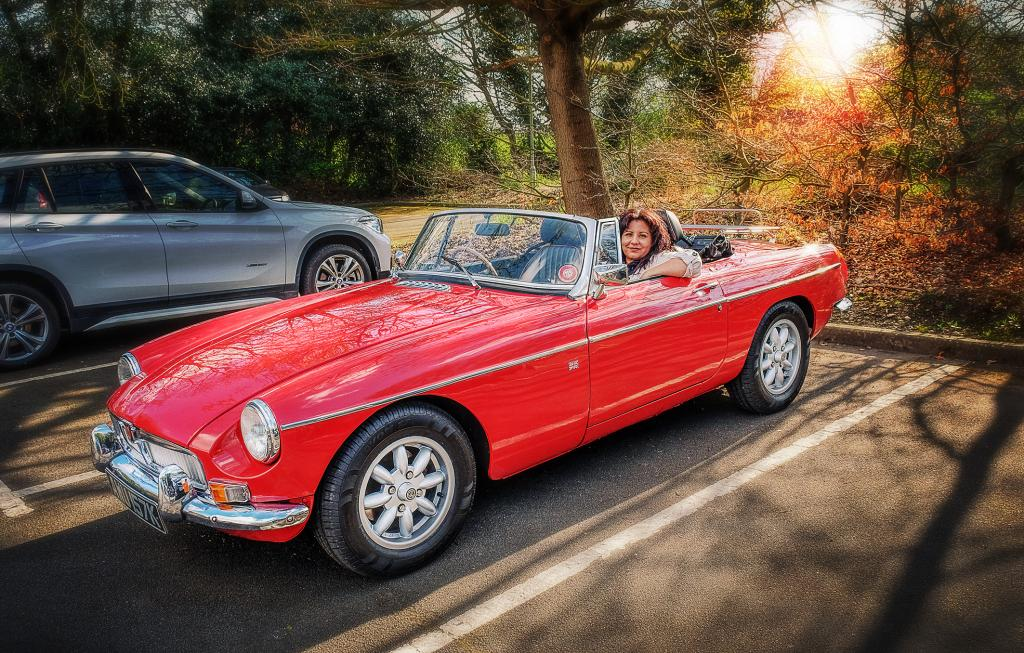 The MGB I bought in December on a spring run out